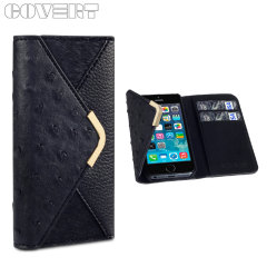 Covert Suki Leather Style Purse Case for iPhone 5S / 5 - Black
