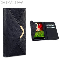 Covert Suki Leather Style Purse Case for LG G2 - Black