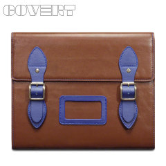 Covert Varsity Leather Satchel Case for all iPads - Brown