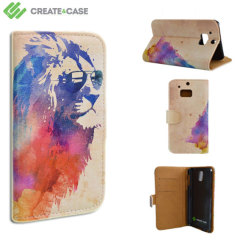 Create and Case HTC One M8 Book Stand Case - Sunny Leo