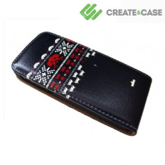 Create and Case iPhone 5 Leather Flip Case - Scandinavian Invaders