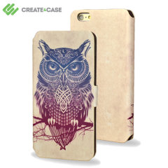 Create and Case iPhone 5 Leather Flip Case - Warrior Owl