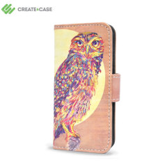 Create and Case iPhone 5S / 5 Wallet Case - Watercolour Owl