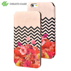 Create and Case iPhone 6 Stand Case - Chevron Flora II