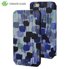 Create and Case iPhone 6 Stand Case - Dotty In Blue