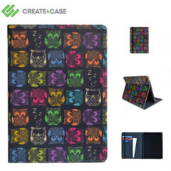 Create and Case Leather Flip Case for iPad Air - Sherbet Owls
