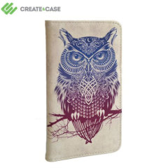 Create And Case Motorola Moto X Book Case - Warrior Owl