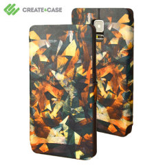 Create and Case Samsung Galaxy Note 4 Stand Case - Raw Texture