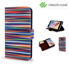 Create and Case Samsung Galaxy S6 Book Case - Blurry Lines