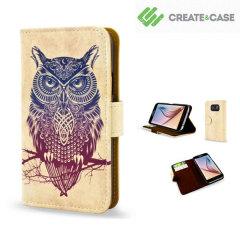 Create and Case Samsung Galaxy S6 Book Case - Warrior Owl