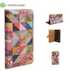 Create And Case Sony Xperia Z1 Compact Book Case - Grandma Quilt