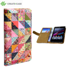 Create And Case Sony Xperia Z2 Book Case - Grandma's Quilt