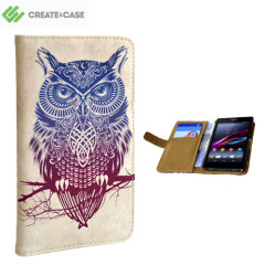 Create and Case Sony Xperia Z2 Book Case - Warrior Owl