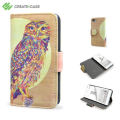 Create and Case Sony Xperia Z5 Compact Stand Case - Watercolour Owl
