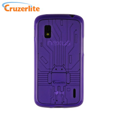 Cruzerlite Bugdroid Circuit Case for Google Nexus 4 - Purple