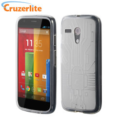 Cruzerlite Bugdroid Circuit Case for Moto G - Clear