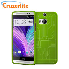 Cruzerlite Bugdroid Circuit HTC One M8 Case - Green