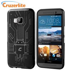 Cruzerlite Bugdroid Circuit HTC One M9 Gel Case - Black