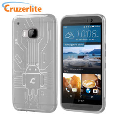 Cruzerlite Bugdroid Circuit HTC One M9 Gel Case - Clear