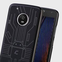 Cruzerlite Bugdroid Circuit Motorola Moto G5 Plus Case - Black