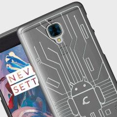 Cruzerlite Bugdroid Circuit OnePlus 3T / 3 Case - Clear