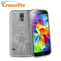 Cruzerlite Bugdroid Circuit Samsung Galaxy S5 Case - Clear