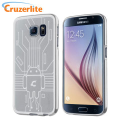 Cruzerlite Bugdroid Circuit Samsung Galaxy S6 Gel Case - Clear