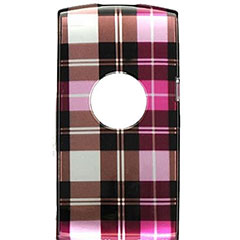 Crystal Skin For Sony Ericsson Vivaz - Hot Pink Checkers