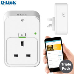 D-Link App Controlled Smart Plug for iOS & Android Devices - 3 Pack
