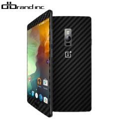 dbrand OnePlus 2 Skin - Black Carbon Fibre