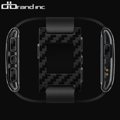 dbrand Pebble Smartwatch Skin & Screen Protector - Black Carbon