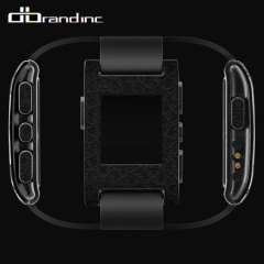 dbrand Pebble Smartwatch Skin & Screen Protector - Black Leather