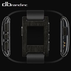dbrand Pebble Smartwatch Skin & Screen Protector - Carbon Titanium