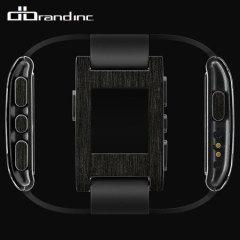 dbrand Pebble Smartwatch Skin & Screen Protector - Carbon Titanium