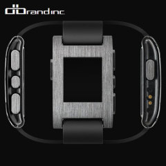 dbrand Pebble Smartwatch Skin & Screen Protector - Titanium