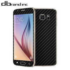 dbrand Samsung Galaxy S6 Carbon Fibre Skin - Black