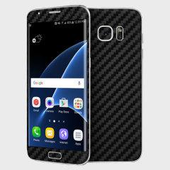 dbrand Samsung Galaxy S7 Edge Carbon Fibre Skin - Black