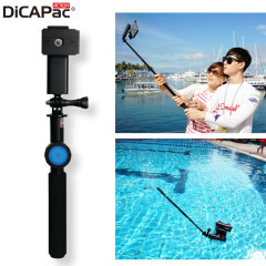 DiCAPac Action Floating Selfie Stick with Water Proof Bluetooth Remote