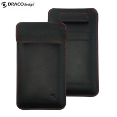 Draco Leather Sleeve iPhone 6 Case - Black