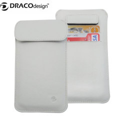Draco Leather Sleeve iPhone 6 Case - White