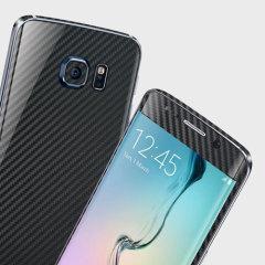 Easyskinz Samsung Galaxy S6 Edge 3D Textured Carbon Fibre Skin - Black