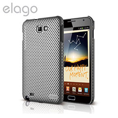Elago Breath Case for Galaxy Note - Metallic Dark Grey