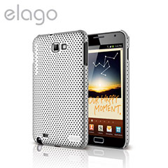 Elago Breath Case for Galaxy Note - Metallic Silver