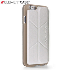 ElementCase Soft-Tec iPhone 6S / 6 Wallet Stand Case - White and Gold