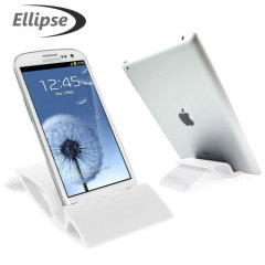 Ellipse Universal Smartphone / Tablet Desk Stand - White
