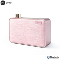 Emie Canvas Portable Bluetooth Speaker - Pink