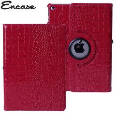 Encase Alligator Pattern Rotating iPad Air 2 Case - Bright Red