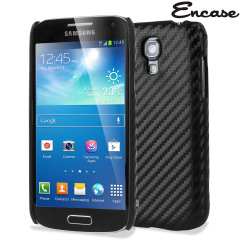 Encase Carbon Fibre-Style Samsung Galaxy S4 Mini Back Case - Black