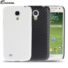 Encase Carbon Fibre-Style Samsung Galaxy S4 Mini Back Case - White
