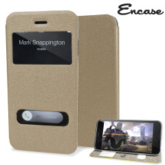 Encase Clear Window Flip and Stand iPhone 6 Case - Gold